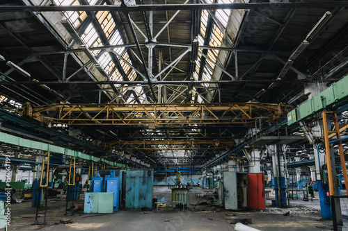 Foto op Canvas Oude verlaten gebouwen Аbandoned factory