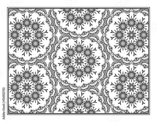 Ethnic decorative pattern coloring page