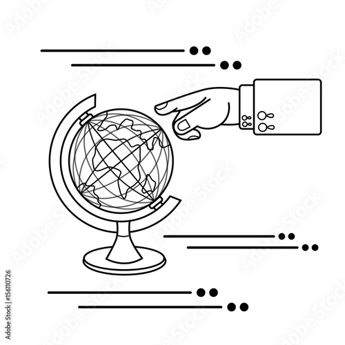 Papiers peints Cartoon draw travel anywhere in the earth. the concept of travel business vector illustration icon.