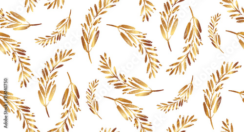 Baroque pattern with gold swirls - 156140750