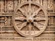 Nice carved walls in Sun God temple, Konark temple in Konorak in India.