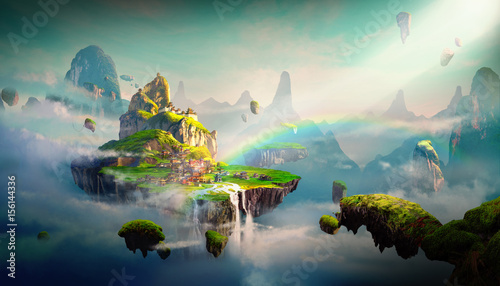 Chinese style fantasy scenes. - 156144336