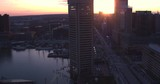 Aerial View of Downtown Baltimore at Sunset - 156145324