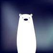 Funny white bear cartoon character - 156166148