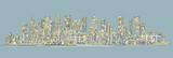 City skyline background. Hand drawn vector - 156192558