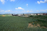 Paisajes de campos y cielos en verano.