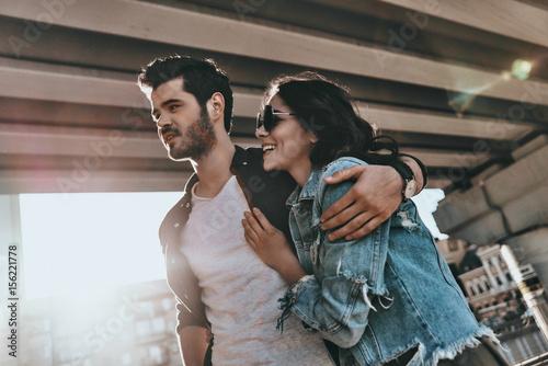 Happy couple. Poster