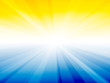 yellow blue sky rays background