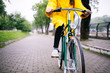 Bicycle ride in the rain - 156230537