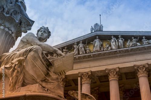 Plakat austria, vienna, parliament