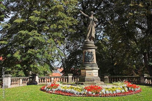Denkmal von Karel Havlicek Borovsky in Cesky Krumlov in Tschechien