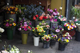 variety of flowers near the flower shop for sale - 156260507