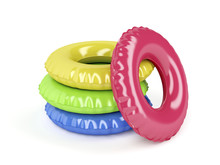 Swim Rings  Different Colors Sticker