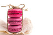 Set of colorful macaroons isolated on white background. Sweet macaroons