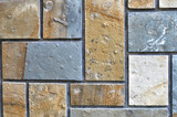 Stone wall texture background. Assembled as a mosaic