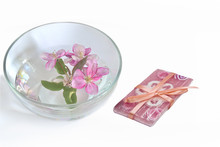 Natural Handmade Floral Soap And  Cherry Blooms In The Water Sticker