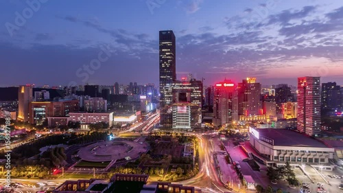Foto op Plexiglas Kiev Time Lapse of WUHAN at night,China
