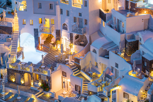 Fotobehang Santorini Luxury hotels, villas and apartments in Santorini, Greece