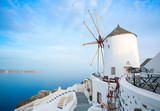 Windmills of Santorini by sunrise