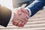 businessmans handshake - Business partnership Concept image