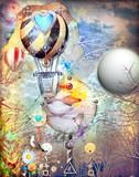 Fairytales montgolfier in the eden garden