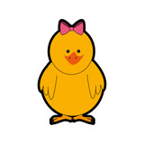 cute chicken icon over white background. colorful design. vector illustration - 156500142