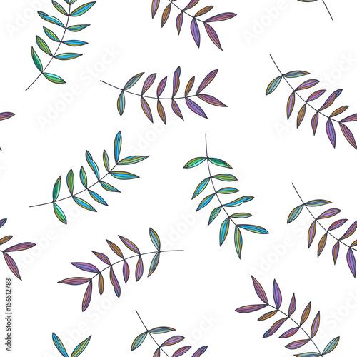 botaniczny-recznie-rysowane-ilustracja-oddzialow-wektorowy-bezszwowy-wzor-w-doodle-stylu-kwiecista-tekstura-z-slicznymi-liscmi