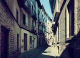 Narrow street at old  town. Borja