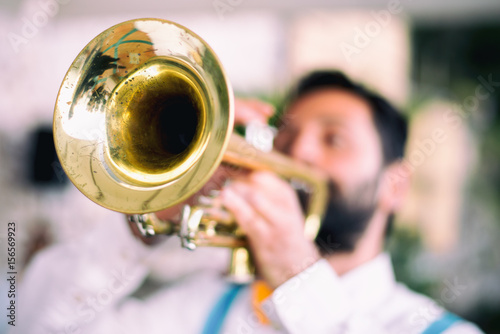 Poster Trumpet player jazz music