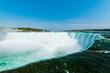 Canadian Side View of Niagara Falls Horseshoe Waterfall Rainbow
