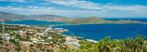 Foto op Canvas Caraïben Greece Crete, turquoise bay panorama from top of hill