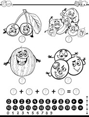 mathematical activity coloring page