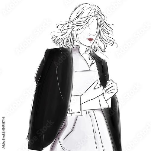 In de dag Art Studio Business Woman Wearing Blazer and White Shirt Ready for Work