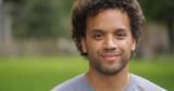 Man in city park face portrait - 156824964