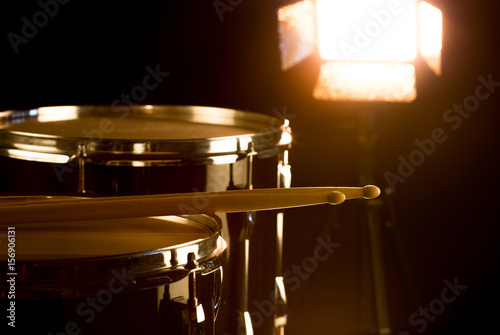 Poster Musical drummer on stage