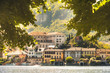 italian picturesque romantic lake San Giulio island of Orta lake in Piedmont region, Novara province Italy