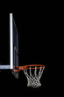 Red basketball hoop isolated on black. Basketball ring.