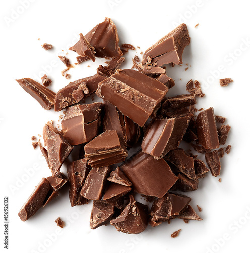 obraz lub plakat Milk chocolate pieces