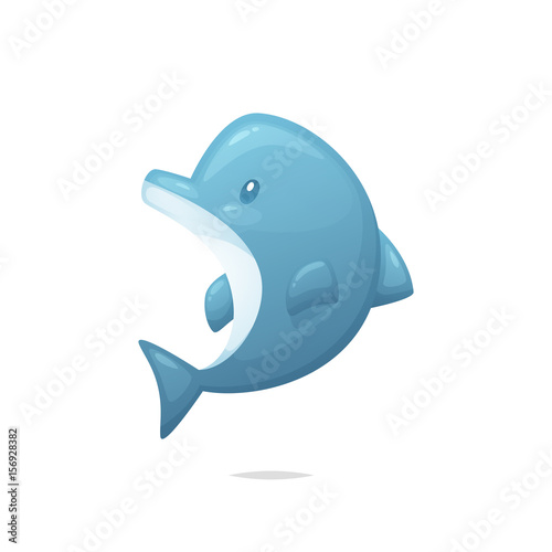 Fototapeta Cartoon dolphin vector
