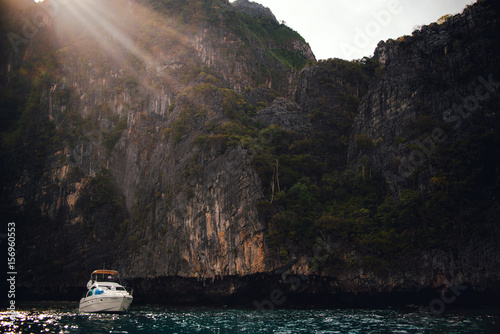 Beautiful mountains at the Phi Phi islands Poster