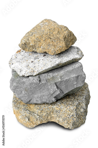 Tuinposter Edelsteen rock stone mountain isolated