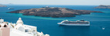 Luxury cruiser in Fira Bay