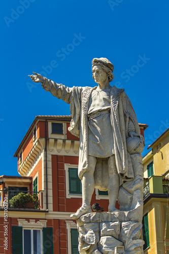 Monument to Christopher Columbus in Santa Margherita Ligure Poster