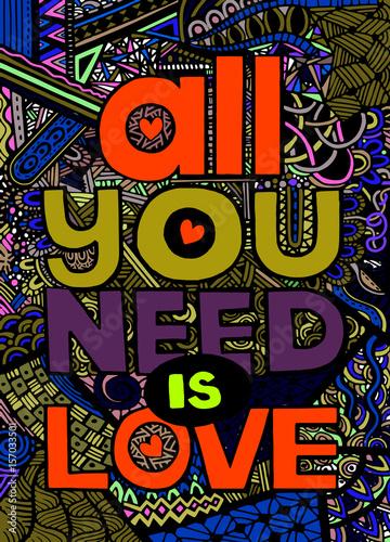 wszystko-czego-potrzebujesz-to-milosc-inspirujacy-cytat-recznie-rysowane-vintage-i