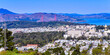 San Francisco, CA - Panoramic view from Twin Peaks, looking northwest, with Golden Gate bridge in background. - 157047101