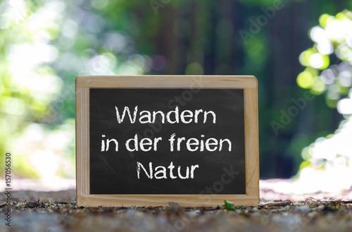 Wandern in der freien Natur Poster