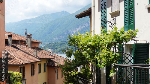 BELLAGIO, ITALY - MAY 14, 2017: Salita Serbelloni picturesque small town street view in Bellagio, Lake Como, Italy © Sergio Monti Photos