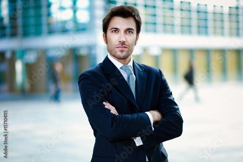 Confident handsome businessman outdoor