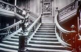 Inside the Titanic on an old photo, Belfast, Northern Ireland