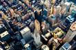 Aerial view of the Midtown Manhattan NY